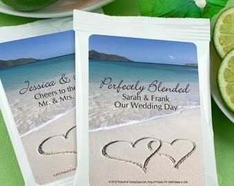 Walk on the Beach Personalized Margarita Mix Favors - Set of 24