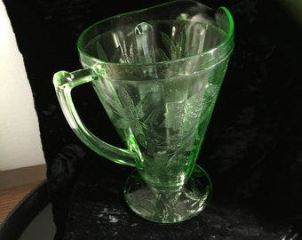 Poinsettia Pattern  Green Pitcher