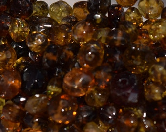 Natural Brown Tourmaline Rondelle Beads, 4mm x 2mm -5mm x 3mm, Faceted gemstone beads, semi precious stone beads