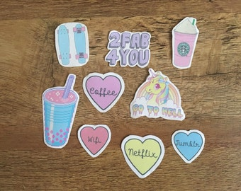 Pastel Aesthetic Stickers (pack of 9)