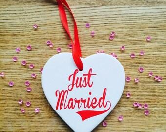 Porcelain wedding heart personalised