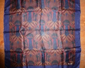 Liberty of London silk scarf.  Art Nouveau / William Morris / Macintosh  pattern  58 cm X 59 cm
