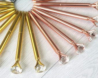 Rose Gold / Gold / Silver Big shinny diamond pen