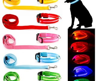 LED Dog Collar and Leash