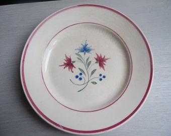 Old plate a dessert model Denise, K & G; Lunéville, France; Art Deco