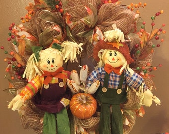 Fall scare crow wreaths