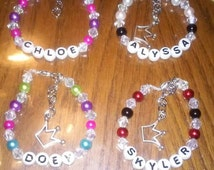 Personalized bracelet PICK CHARM crown heart birthday baby shower new baby