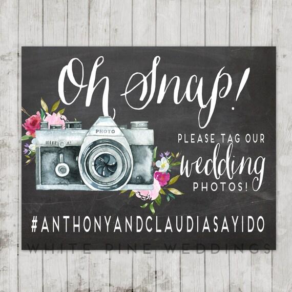 Instagram Wedding Hashtag: PRINTABLE Wedding Instagram Sign Instagram Sign Pink