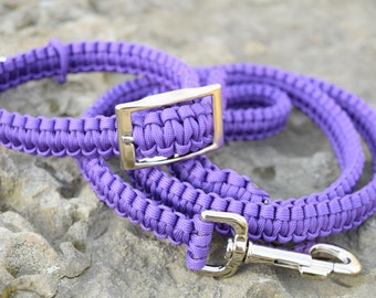Paracord Dog Collar and Leash Set - Multiple Colors Available