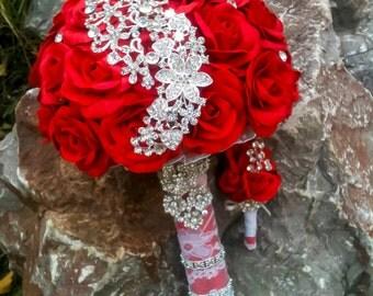 Wedding Brooch Bouquet / Bridal Bouquet / Handmade/ Брошь букет / Букет невесты
