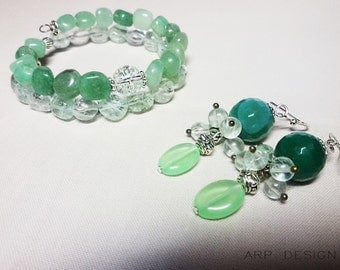 earrings ant bracelet set