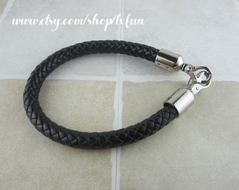 Faux Leather Purse Straps - Black