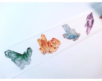 "Watercolour Crystal Gem Washi Tape Sample 24"""