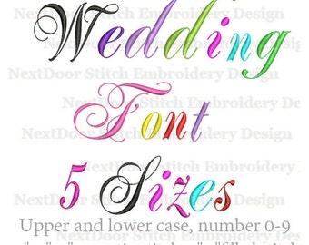Wedding font embroidery design, vine Alphabet  set,  includes BX files ,  font-028c