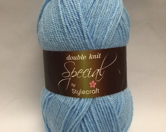 Cloud blue, Stylecraft Special DK Yarn, 1019, yarn, DK Yarn, Acrylic, Light Blue Yarn, baby blue yarn