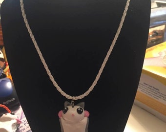 Standard Grey Polymer Clay Sugar Glider Necklace CLEARANCE