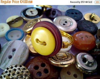 SALE Button Ring