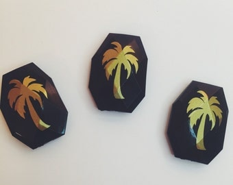 Beads Gold Palm Trees