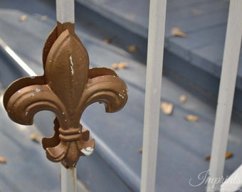 travel photography, New Orleans photography, home decor, wall print, fleur de lis, french quarter
