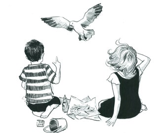 Day 25 Print: A seagull stole my chip