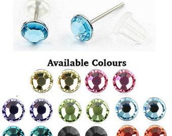 Austrian Crystal Round Stud Earrings