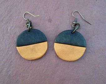 Modern Polymer Clay Dangle Earrings