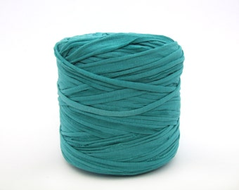 Light Teal green T-shirt yarn, recycled t shirt yarn, tshirt yarn, recycled cotton yarn, jersey yarn, tricot yarn, yarn carpet, bulk yarn