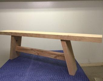 Solid Beech Wooden Bench