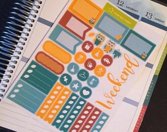 Owl sampler sticker sheet  |  Perfect for any planner!