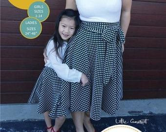 12102 @ 22102 Mummy and Me Glamour Swirl Circle Skirt PDF Pattern