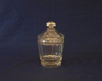 Antique, Vintage, Bohemia, Art Deco, Art Glass, Crystal Sugar Bowl with Lid XIXc.