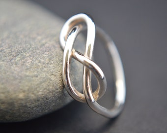 Sterling Silver Infinity Ring, Silver Wire Ring, Infinity Ring, Promise Ring, Friendship Ring, 925 Sterling Silver