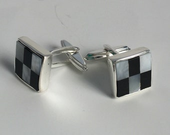 925 Solid Sterling Silver Cuff links.