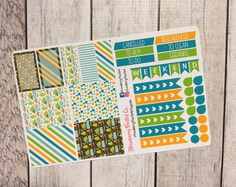 Camping Themed Planner Stickers- Made to fit Vertical Layout