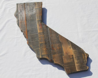 California Wall Art - Reclaimed Wood - Pallet Wood - California Wall Hanging - Pallet Wood California - Reclaimed Wood Wall Art