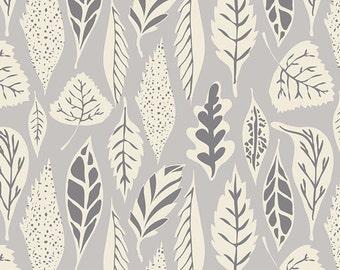 Crib Sheet, Fitted,  Woodland,  Art Gallery, Hello Bear, Leaflet Dawn in Grey, Nursery Bedding, Baby Bedding,