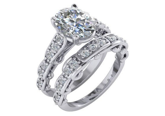 3 Carat Moissanite Engagement Ring Forever Brilliant