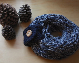 Infinity Scarf: 50 Shades of Blue