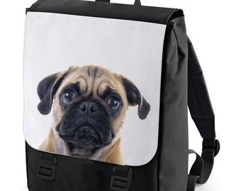 Cute pug Backpack Bag perfect for school