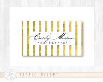 Gold Foil Business Card Photography Business Card Signature Elegant Business Card
