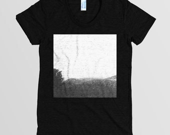 Vintage Mountain Photography T-shirt Women's Tshirt Short Sleeve American Apparel Tee 6 colors S M L XL
