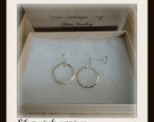 Silver circle earrings 15 GBP off for a limited time! Discount applied!