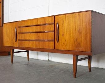 SOLD!!Retro 60s 70s Teak Danish Style Mid Century Beautility Sideboard