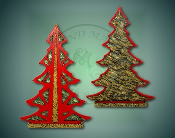 Hand Made,  Red and Gold Christmas Tree, Christmas Decoration, Home Decoration