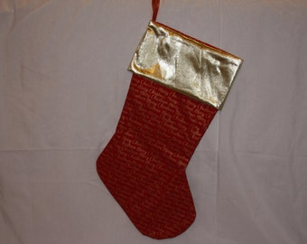 red merry christmas stocking