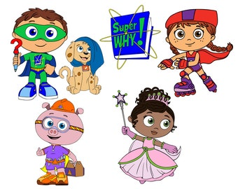 Super Why Collection - svg files