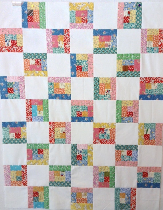 Unfinished Quilt Top Baby Blanket Baby Quilt Stroller