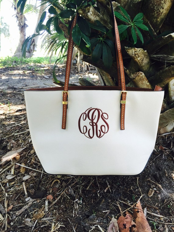 Monogram Purse Bag Tote/ Monogram Off white Pocketbook, Cream monogram purse/ Classic Black purse/ Designer Inspired Tote/ Leather purse