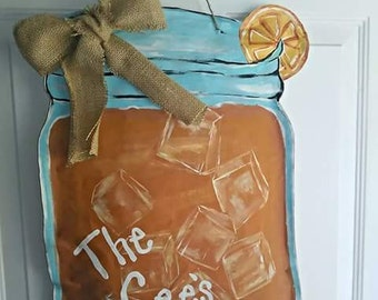 Summer Ice Tea Door Hanger