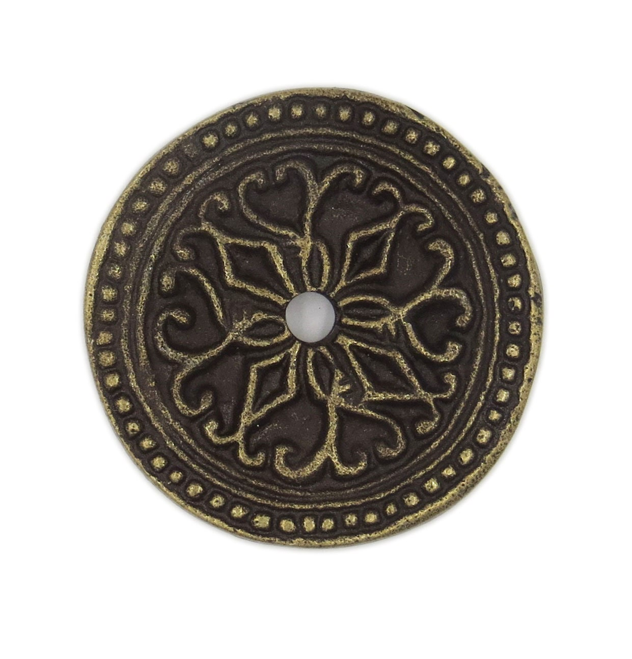 Antique Solid Metal Round Decorative Medallion Back Plate